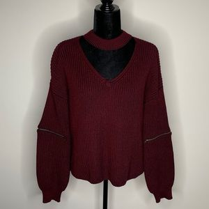 Fate by LFD Pullover Sweater with Zippers